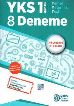 Doğru Orantı Yayınları YKS 1. Oturum TYT 8 Deneme