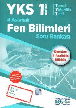 Doğru Orantı Yayınları YKS 1. Oturum TYT 4 Aşamalı Fen Bilimleri Soru Bankası