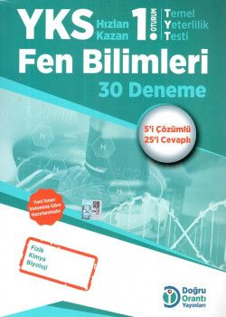 Doğru Orantı Yayınları YKS 1. Oturum TYT Fen Bilimleri 30 Deneme