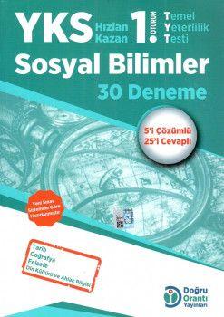 Doğru Orantı Yayınları YKS 1. Oturum TYT Sosyal Bilimler 30 Deneme