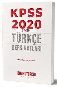Doğru Tercih 2020 KPSS Pratik Türkçe Ders Notları