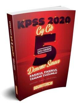 Doğru Tercih 2020 KPSS Genel Yetenek Genel Kültür Çözümlü 5 Deneme Sınavı