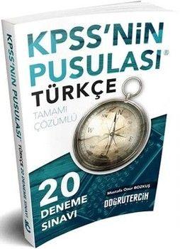 Doğru Tercih Yayınları KPSS nin Pusulası Türkçe Tamamı Çözümlü 20 Deneme Sınavı