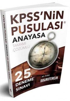 Doğru Tercih Yayınları 2018 KPSS nin Pusulası Anayasa 25 Çözümlü Deneme