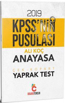 Doğru Tercih Yayınları 2019 KPSSnin Pusulası Anayasa Yaprak Test