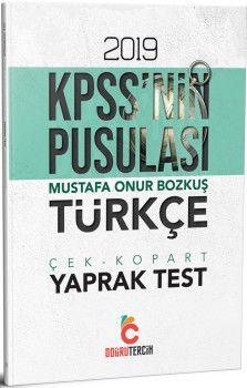 Doğru Tercih Yayınları 2019 KPSSnin Pusulası Türkçe Yaprak Test