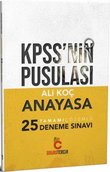 Doğru Tercih Yayınları KPSS nin Pusulası Anayasa 25 Tamamı Çözümlü Deneme