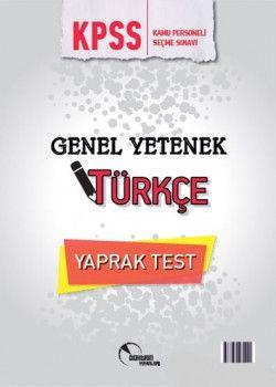 Doktrin Yayınları 2018 KPSS Genel Yetenek Türkçe Çek Kopart Yaprak Test