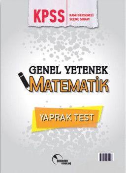 Doktrin Yayınları 2018 KPSS Genel Yetenek Matematik Çek Kopart Yaprak Test