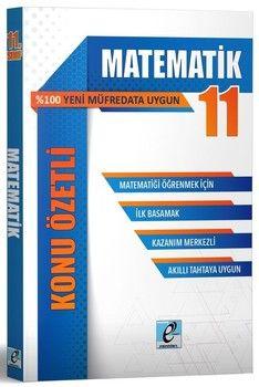 E - Kare Yayınları 11. Sınıf Matematik Konu Özetli Soru Bankası