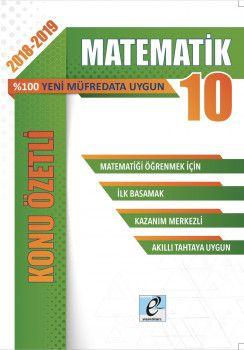 E-Kare Yayınları 10. Sınıf Matematik Konu Özetli Soru Bankası Seti