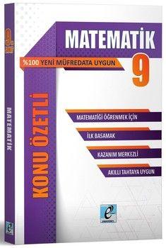 E - Kare Yayınları 9. Sınıf Matematik Konu Özetli Soru Bankası
