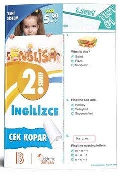 Eğitim Dünyası Yayınları 2. Sınıf İngilizce Çek Eğitim Dünyası Yayınları 2. Sınıf İngilizce Çek Kopar Yaprak TeKopar Yaprak Test