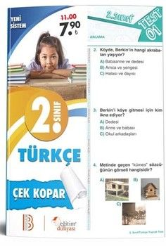 Eğitim Dünyası Yayınları 2. Sınıf Türkçe Çek Kopar Yaprak Test