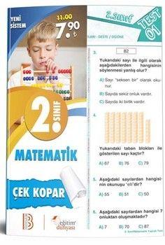 Eğitim Dünyası Yayınları 2. Sınıf Matematik Çek Kopar Yaprak Test
