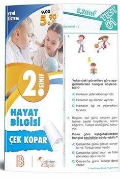Eğitim Dünyası Yayınları 2. Sınıf Hayat Bilgisi Çek Kopar Yaprak Test