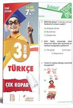 Eğitim Dünyası Yayınları 3. Sınıf Türkçe Çek Kopar Yaprak Test