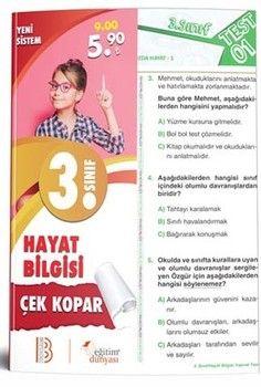 Eğitim Dünyası Yayınları 3. Sınıf Hayat Bilgisi Çek Kopar Yaprak Test