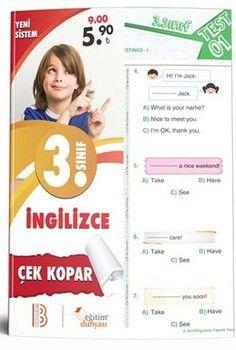Eğitim Dünyası Yayınları 3. Sınıf İngilizce Çek Kopar Yaprak Test