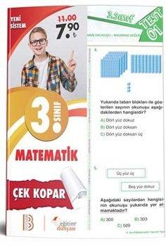 Eğitim Dünyası Yayınları 3. Sınıf Matematik Çek Kopar Yaprak Test