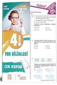 Eğitim Dünyası Yayınları 4. Sınıf Fen Bilimleri Çek Kopar Yaprak Test