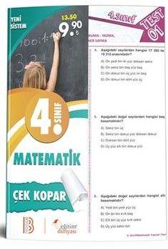 Eğitim Dünyası Yayınları 4. Sınıf Matematik Çek Kopar Yaprak Test