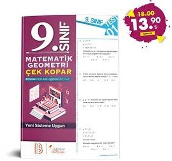 Eğitim Dünyası Yayınları 9. Sınıf Matematik Geometri Çek Kopar Yaprak Test