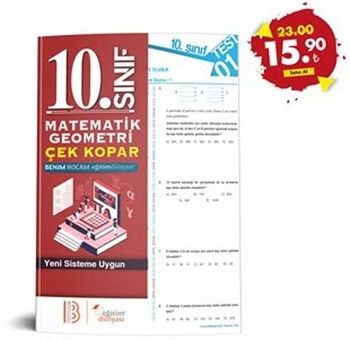 Eğitim Dünyası Yayınları 10. Sınıf Matematik Geometri Çek Kopar Yaprak Test