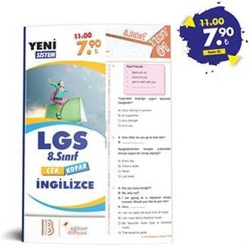 Eğitim Dünyası Yayınları 8. Sınıf LGS İngilizce Çek Kopar Yaprak Test