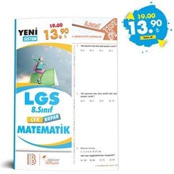Eğitim Dünyası Yayınları 8. Sınıf LGS Matematik Çek Kopar Yaprak Test