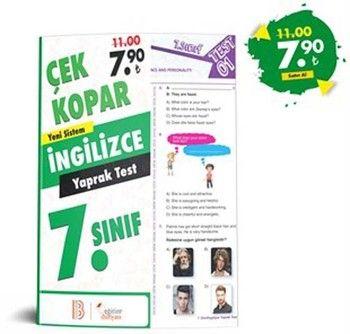 Eğitim Dünyası Yayınları 7. Sınıf İngilizce Çek Kopar Yaprak Test