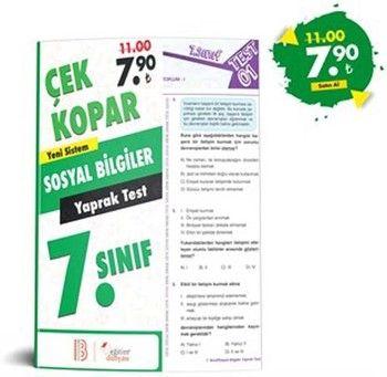 Eğitim Dünyası Yayınları 7. Sınıf Sosyal Bilgiler Çek Kopar Yaprak Test