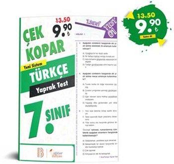 Eğitim Dünyası Yayınları 7. Sınıf Türkçe Çek Kopar Yaprak Test