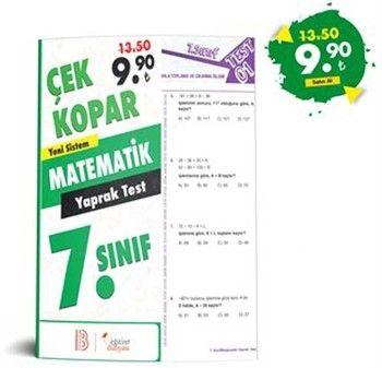 Eğitim Dünyası Yayınları 7. Sınıf Matematik Çek Kopar Yaprak Test