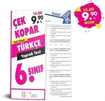 Eğitim Dünyası 6. Sınıf Türkçe Çek Kopar Yaprak Test
