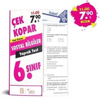 Eğitim Dünyası 6. Sınıf Sosyal Bilgiler Çek Kopar Yaprak Test