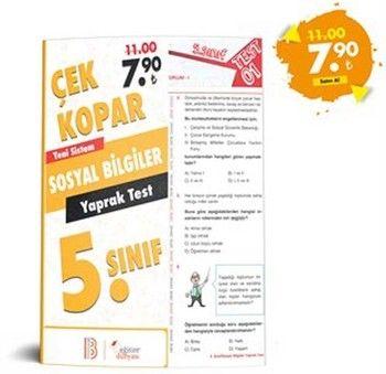 Eğitim Dünyası 5. Sınıf Sosyal Bilgiler Çek Kopar Yaprak Test