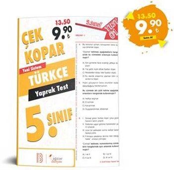Eğitim Dünyası 5. Sınıf Türkçe Çek Kopar Yaprak Test