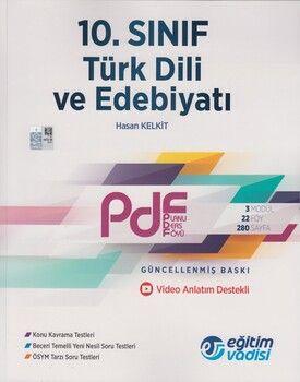 Eğitim Vadisi 10. Sınıf Türk Dili ve Edebiyatı Güncel PDF Planlı Ders Föyü