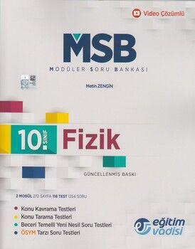 Eğitim Vadisi 10. Sınıf Fizik Güncel MSB Modüler Soru Bankası