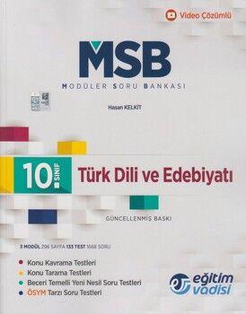 Eğitim Vadisi 10. Sınıf Türk Dili ve Edebiyatı Güncel MSB Modüler Soru Bankası