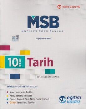 Eğitim Vadisi 10. Sınıf Tarih Güncel MSB Modüler Soru Bankası
