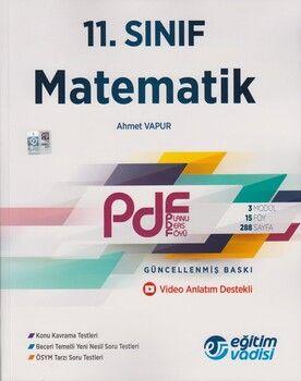 Eğitim Vadisi 11. Sınıf Matematik Güncel PDF Planlı Ders Föyü