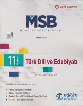 Eğitim Vadisi 11. Sınıf Türk Dili ve Edebiyatı Güncel MSB Modüler Soru Bankası