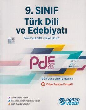 Eğitim Vadisi 9. Sınıf Türk Dili ve Edebiyatı Güncel PDF Planlı Ders Föyü