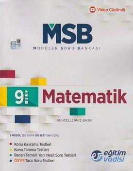Eğitim Vadisi 9. Sınıf Matematik Güncel MSB Modüler Soru Bankası