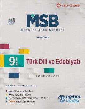 Eğitim Vadisi 9. Sınıf Türk Dili ve Edebiyatı Güncel MSB Modüler Soru Bankası