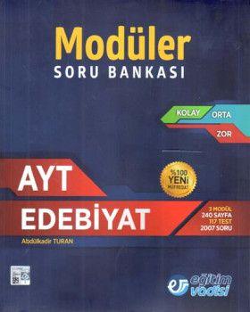 Eğitim Vadisi AYT Edebiyat Modüler Soru Bankası