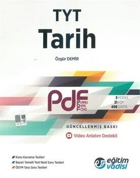 Eğitim Vadisi TYT Tarih Güncel PDF Planlı Ders Föyü