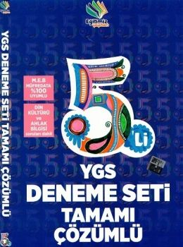 Eğitimiz Yayınları YGS 5 li Tamamı Çözümlü Deneme Seti